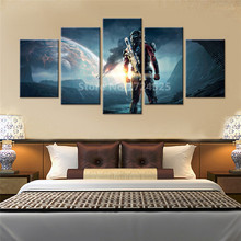 5 Pieces Game Mass Effect Andromeda Wall Art Picture Home Decoration Living Room Canvas Print Paintings On The Wall Unframed