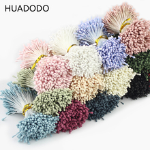 HUADODO 1.5mm 400Pcs Artificial stamen Handmade Artificial Flowers Supplies For Wedding Party Home Decoration DIY Accessories