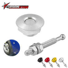 Universal Aluminum Push Button Billet Hood Pins Lock Clip Kit Car Quick Latch HL009(China)