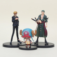 3pcs/set Anime DX One Piece Action Figure After two years Tony Tony Chopper Sanji Zoro PVC Figure Model Toys 7-15cm