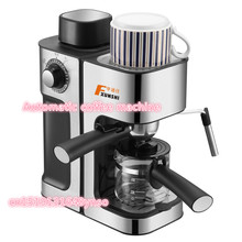 DHL FedEx EMS Free shipping MD-2006 Italian style Coffee machine Household stainless steel Steam type Automatic coffee machine