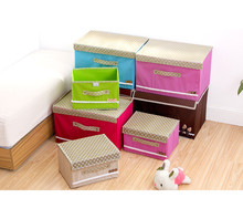 Non Woven Cloth Cover Cover Box Bra Underwear Socks Clothes Toy Folding Box Storage Box 10 Color
