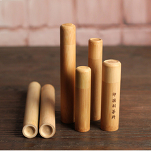 Natural Bamboo Loose Tea Caddy Airtight Tea Ceremony Incense Tube Travel Toothbrush Box Most Health Tea Can Storage Wholesale(China)