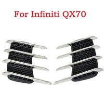 2017 Car Side Bonnet Air Vent Grill Decoration outlet decorative stickers Euro Cuct Side Door Auto for Infiniti QX70