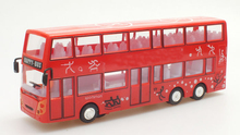 Cool electric flash Luxury double-decker bus dynamic music strip light electric toys bring universal wheel