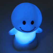 A96 Better 1 pc Christmas Cute Sunny Day Dolls LED Novelty Lamp Changing Color Night Light Gift