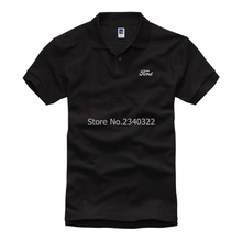 high quality 3 colours men summer Ford short sleeve POLO shirts Customized shirts(China)