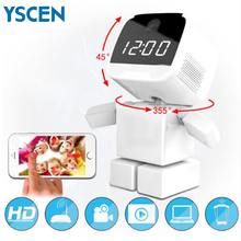 960P HD Wireless robot IP Camera Wifi Night Vision Clock High Quality IP Network Camera CCTV WI-FI APP 1.3MP Audio Output