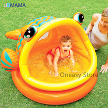 Lovely Fish Type  Inflatable Baby Swimming Water Pool Kids Paddling Bathing  Home Use Swimming Pool