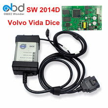 Best Price  For Volvo Vida Dice Car Diagnostic Tool Dice Pro Latest Version 2014D Full Chip Green Board Support Firmware Update