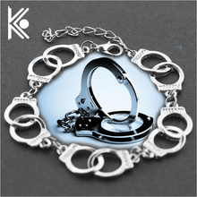 Fifty Shades of Grey Bracelets mens Handcuffs Wristband Snap button bracelet Jewelry Handmade Charms