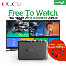 Dalletektv Mag 250 IPTV Box QHDTV Subscription IPTV Account Europe French Arabic IPTV Channels Mag250 TV Box USB Wifi for Choose