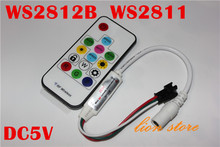 New 14key Mini-RF controller for LED Strip WS2811 WS2812 WS2812B Controller 5V(China)