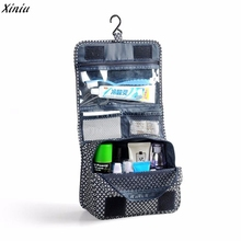 Pockettrip Hanging Toiletry Kit Clear Travel BAG Cosmetic Carry Case Toiletry Organizer Women Cosmetic Cases Travel Bag(China)