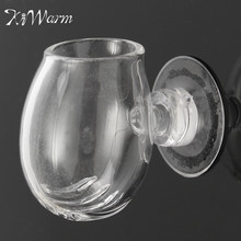 Modern Clear Aquarium Fish Tank Aquatic Plant Glass Cup Pot and Sucker Terrarium Container Holder Craft Home Decor 20*30*40mm(China)