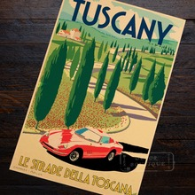 Italy City Tuscany Pop Travel Poster Classic Retro Vintage Kraft Decorative DIY Wall Sticker Home Bar Posters Decoration Gift