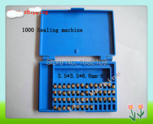 Free shipping ,3.5*3.5*6.8MM,51pcs/box,Number font, characters for date coder, hot stamp coder,for 1000 sealing machine
