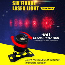 Six Figure Transform Fashion Laser Projector Fog Light Rear Anti-Collision Brake Tail lights Warning Lamp CLT01