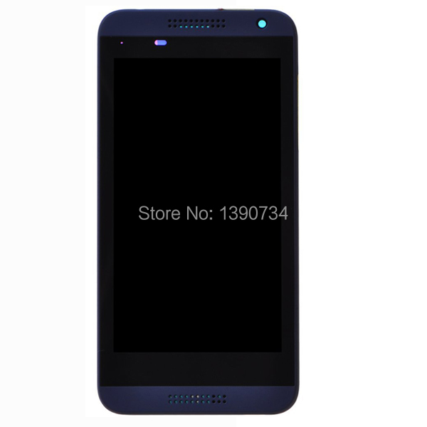 100% Guarantee Working Blue LCD Display Touch Screen Digitzer Assembly With Frame For HTC Desire D610 610 With LOGO Replacement<br><br>Aliexpress