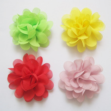 "2016Christmas Mini satin Chiffon Flowers fabric flowers for headbands DIY Flowers 2 "" girls Hair Accessories 30pcs/lot(China)"