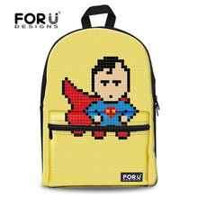 Cool Children Backpacks Designer Cartoon Superman Spider Man Backpack for Teenager Boys Canvas Kids Captain America Rucksack(China)