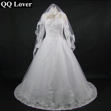 Buy QQ Lover 2018 New High Neck Appliques Long Sleeve Vestido De Noiva Custom-made Plus Size Bridal Gown Wedding Dress for $117.00 in AliExpress store