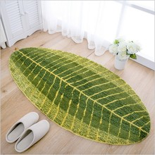 Southeast Asian style banana leaf pattern creative carpet living room coffee table mats Ottomans absorbent bed big non-slip mats