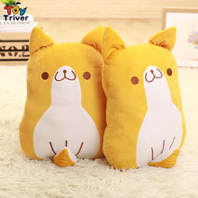 Plush Japan Loyal yellow dog Shiba Inu cushion pillow toy doll birthday gift shop home sofa office deco Triver