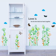 Brand 2017 wall sticker decals kids Rooms Green Love the Link English Quote wallpaper children home nursery decor TV background