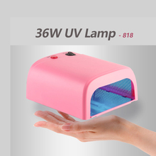 UV Lamp 818 Dryer Nail 36W Nail Gel Lamp Mini Lamp For Nails Manicure Machine UV Gel LED Nail Dryers Lamps EU Plug 3 x 12W Power(China)