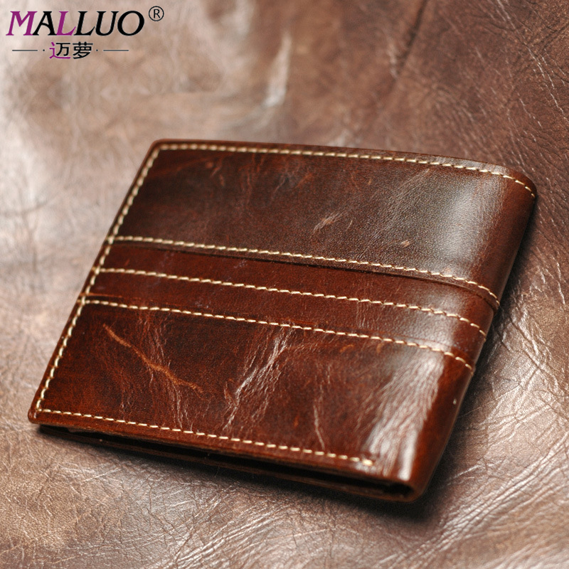 Genuine leather men wallets Vintage genuine leather wallet for men cowboy top leather thin to put coin purse women famous brands<br><br>Aliexpress