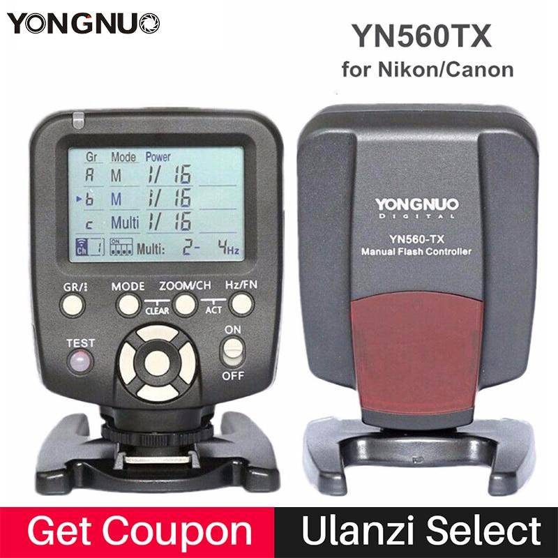 Original YONGNUO YN560-TX YN560TX Wireless Manual Flash Transmitter Trigger Controller for YN-560 III YN560 IV for Nikon Canon<br>