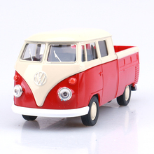 Welly cool 1:36 mini classic Volkswagen T1 bus pickup truck alloy model car toy birthday gift Free Shipping