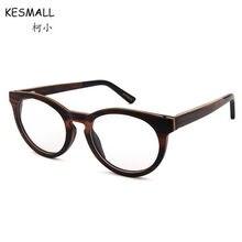 Kesmall 2018 nueva receta Gafas hombres mujeres madera vintage Eyewear  Marcos con miopía lente anti azul luz Gafas xn448p f490d0cd3f06