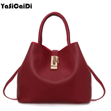 YASICAIDI Fashion Women Leather Handbags Mobile Messenger Ladies Handbag PU Leather High Quality Diagonal Cross Buns Mother Bag(China)