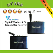 PAT-630 Wireless 5.8GHz Audio Video AV RCA Transmitter Sender Receiver Extender 200m Digital Device For DVD DVR IPTV STB PAT630(China)