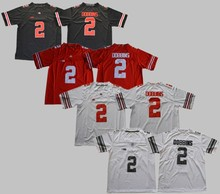 Men s Ohio State Buckeyes College 2 Dobbins Football Jerseys black Red  White Stitched Size M- f77c7afd7
