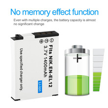 3.7V 1400MAH Long Life Rechargeable Li-ion Battery Digital Camera Replacement Battery Suitable For Nikon Coolpix S610 S610c