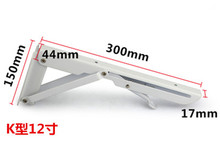 Easy install folding shelf bracket microwave oven wall bracket , 300mm length x 150mm width x 44mm thickness