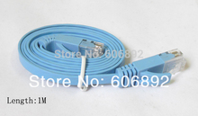 20pcs/lot 1M CAT6 RJ45 cable Flat UTP 10/100/1000Mbps Ethernet Network Cable For PC Router DSL Modem