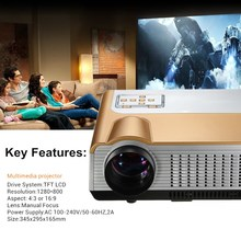 New Arrival US Plug 3000 Lemens HD Home Cinema Theater Multimedia LED LCD Projector for Entertaining Office Home HDMI VGA AV 3D