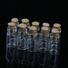 Hot Sale 30Pcs 0.5mL Mini Small Tiny Clear Cork Stopper Glass Bottles Vials Wholesale H06