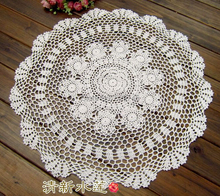 Handmade Crochet flowers White Round tablecloth Cotton Round Doilies Sofa cover Furniture cover cloth Home Textiles