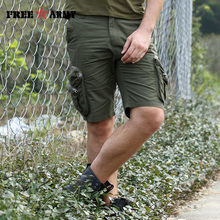 Men New Summer Cargo Shorts Green Tactical Air Force Big pocket Casual Short Size 30-40 Man Cotton Military Army Brand Clothing(China)