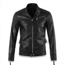 Hot ! High quality new Spring fashion leather jackets men, men's leather jacket brand motorcycle leather jackets skull(China)