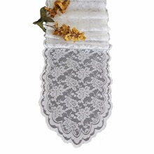 "Free Shipping 10 PCS 108""x14"" Dining Table Runner Lace Cotton Hand Block Printed White Black Table Runner 15 colors"