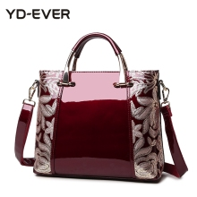 new patent leather women handbag brand shoulder bag luxury fashion tote Clutch Sequins design patent  messenger bag 95