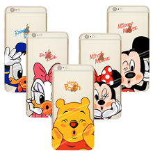 Capa Para Cartoon Soft TPU Silicone Mickey Minnie Clear Case For Coque iPhone 4S 5 5S SE 5C 6 6S 7 Plus Luxury Phone Cases Cover