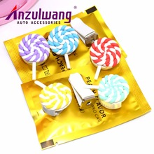 ANZULWAN Cartoon Lollipop Car Perfumes Air Conditioner Vent Outlet Air Freshener 100 Original Fragrance Car styling Accessories