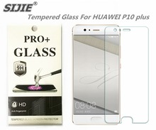 SIJIE Tempered Glass For HUAWEI P10 plus 0.26mm Screen Protector front stronger 9H hardness thin discount with Retail Package